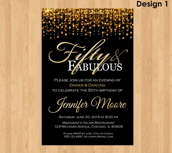 50th Birthday Party Invitation Wording Beautiful 50th Birthday Invitation for Women 50 and Fabulous