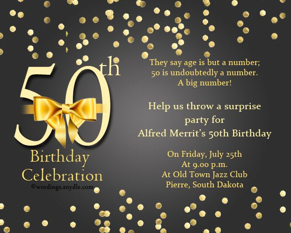50th Birthday Party Invitation Wording Best Of 50th Birthday Party Invitation Wordings Years E and