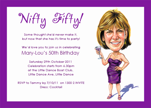 50th Birthday Party Invitation Wording Elegant 50th Birthday Invitations for Women