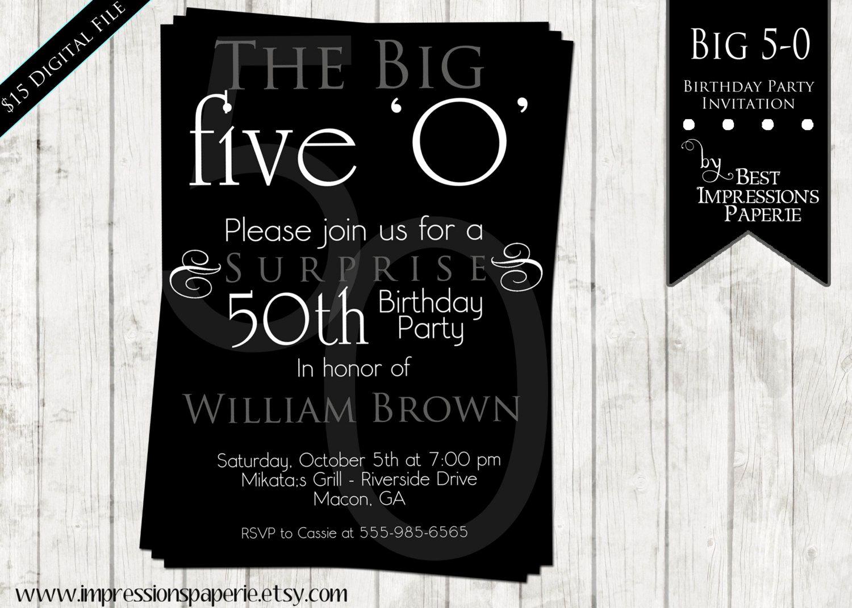 50th Birthday Party Invitation Wording Elegant Ideas for 50th Birthday Invitations