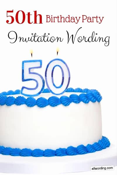 50th Birthday Party Invitation Wording Luxury 50th Birthday Invitation Wording Allwording