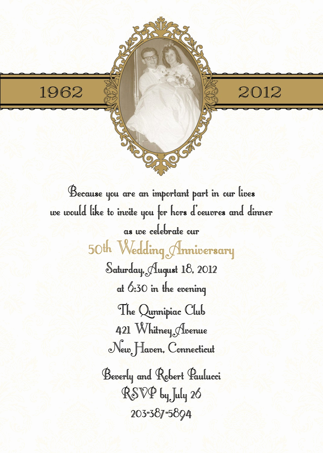 50th Wedding Anniversary Invitation Awesome 100 Damask 50th Anniversary Wedding Invitations Especially for