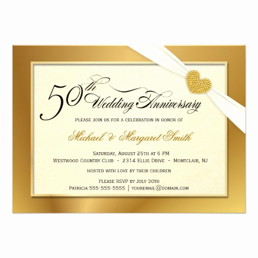 50th Wedding Anniversary Invitation Beautiful 50th Golden Wedding Anniversary Invitations