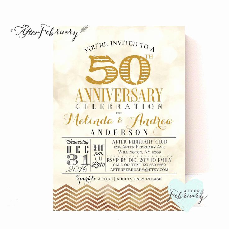 50th Wedding Anniversary Invitation Best Of 25 Best Ideas About 50th Anniversary Invitations On