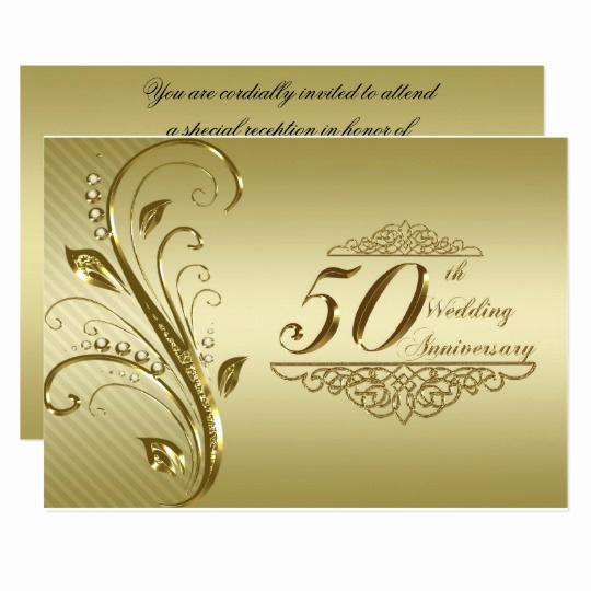 50th Wedding Anniversary Invitation Fresh 50th Wedding Anniversary Invitation Card