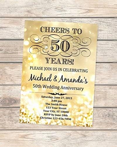 50th Wedding Anniversary Invitation Inspirational Amazon 50th Golden Wedding Anniversary Invitation