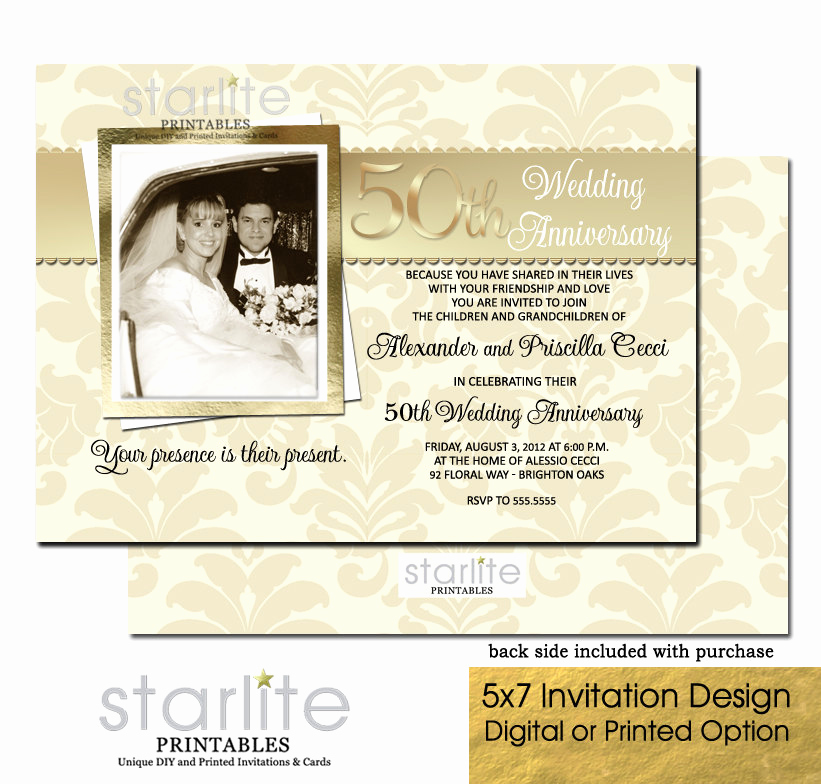 50th Wedding Anniversary Invitation Lovely 50th Wedding Anniversary Invitation 50th Wedding