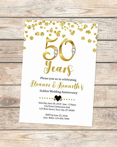 50th Wedding Anniversary Invitation Lovely Amazon 50th Wedding Anniversary Invitation Black and