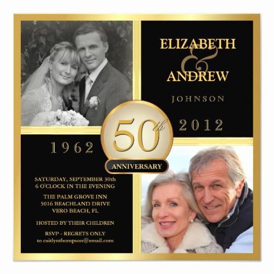 50th Wedding Anniversary Invitation New Elegant 50th Wedding Anniversary Invitations