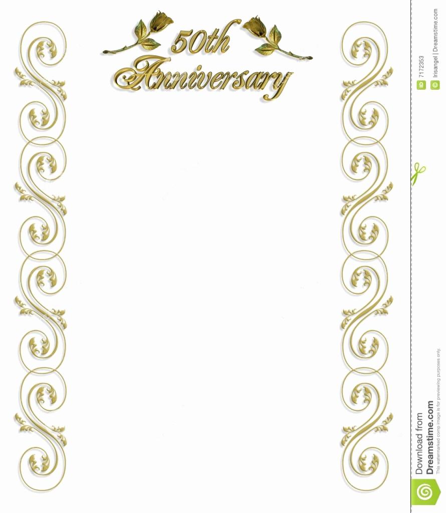 50th Wedding Anniversary Invitation Template Awesome 50th Wedding Anniversary Invitations Templates Free
