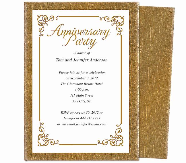 50th Wedding Anniversary Invitation Template Awesome 9 Best 25th & 50th Wedding Anniversary Invitations