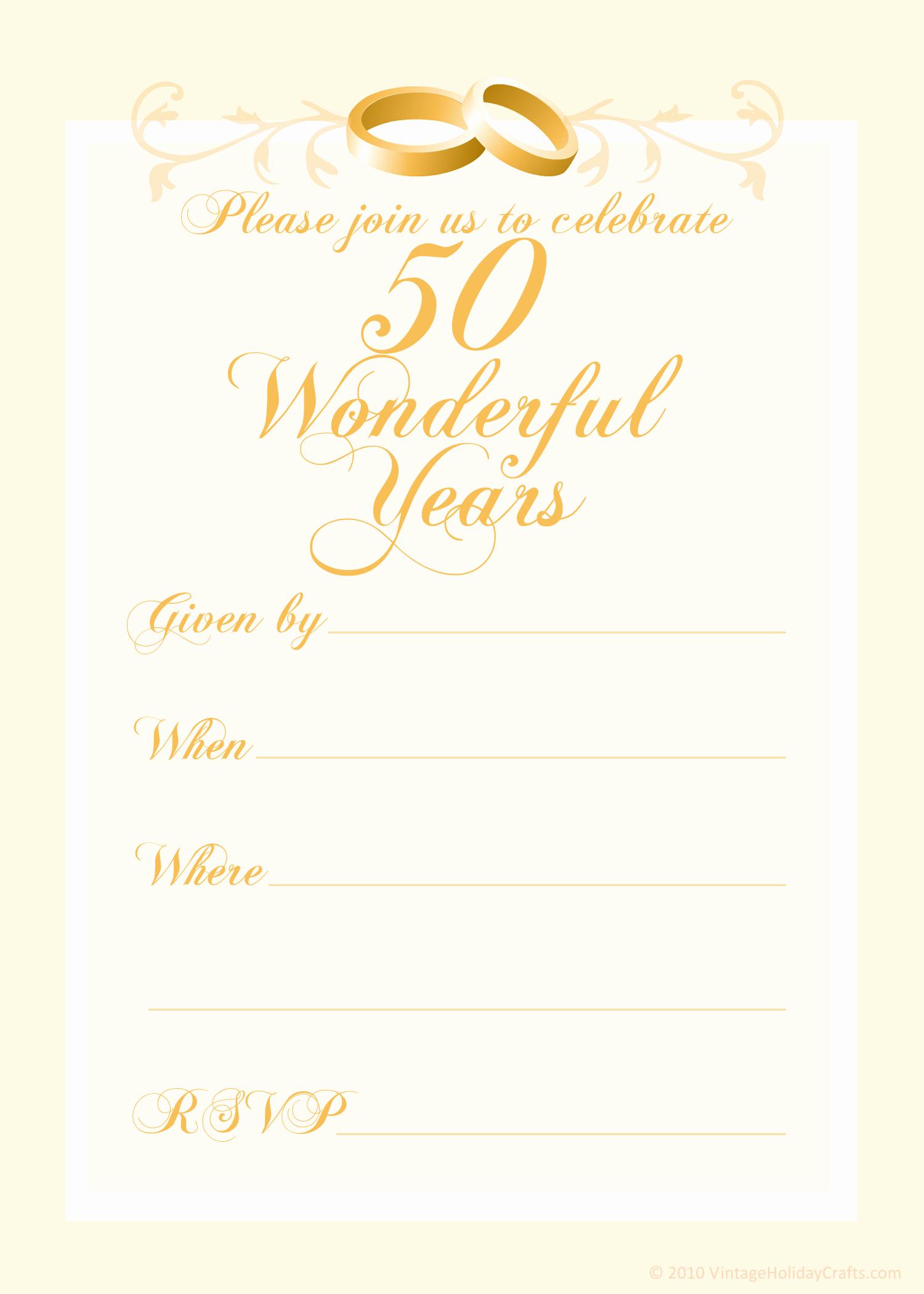 50th Wedding Anniversary Invitation Template Beautiful Free 50th Wedding Anniversary Invitations Templates