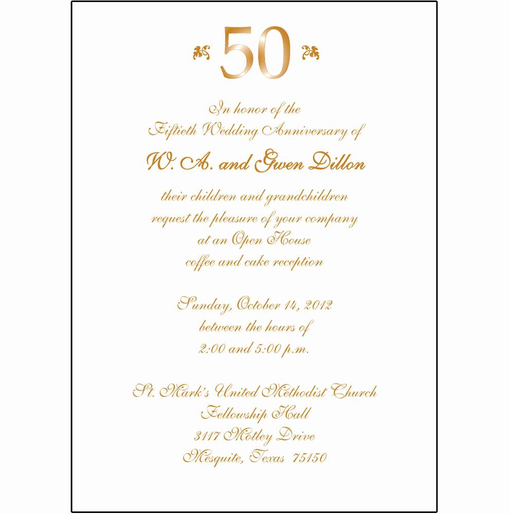 50th Wedding Anniversary Invitation Template Elegant 25 Personalized 50th Wedding Anniversary Party Invitations