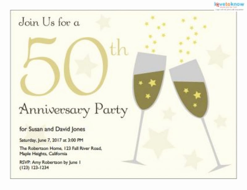 50th Wedding Anniversary Invitation Template Elegant 50th Wedding Anniversary Invitation Templates Free