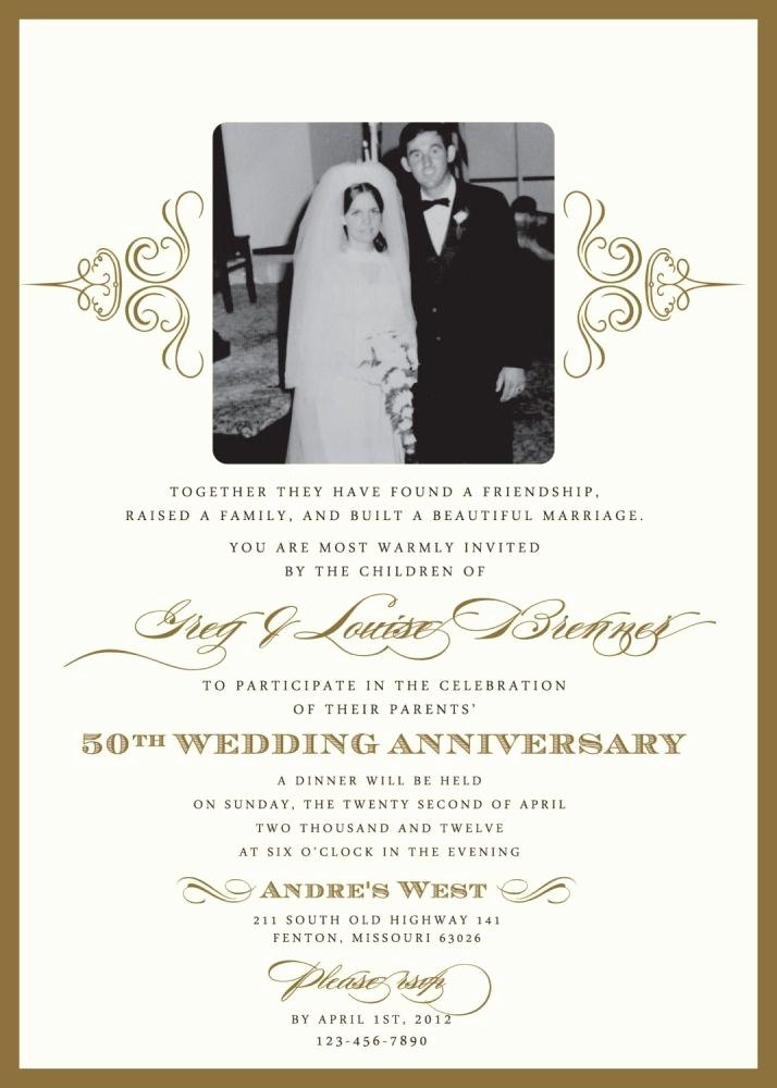 50th Wedding Anniversary Invitation Template Elegant Wedding Invitations for A 50th Wedding Anniversary