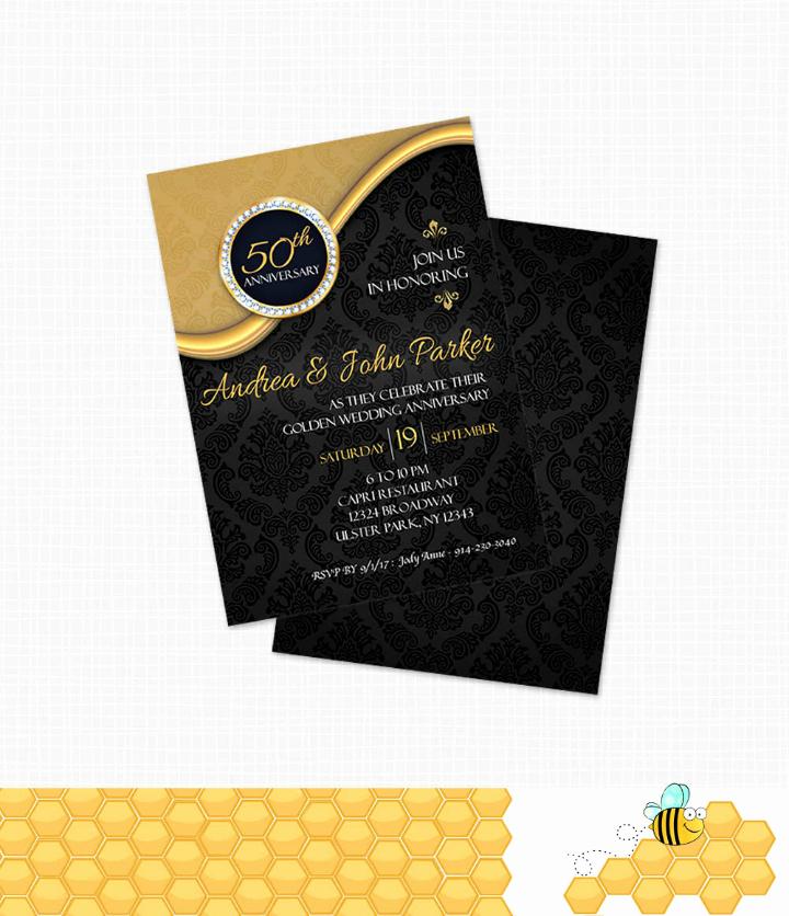50th Wedding Anniversary Invitation Template Fresh 32 50th Wedding Anniversary Invitation Designs