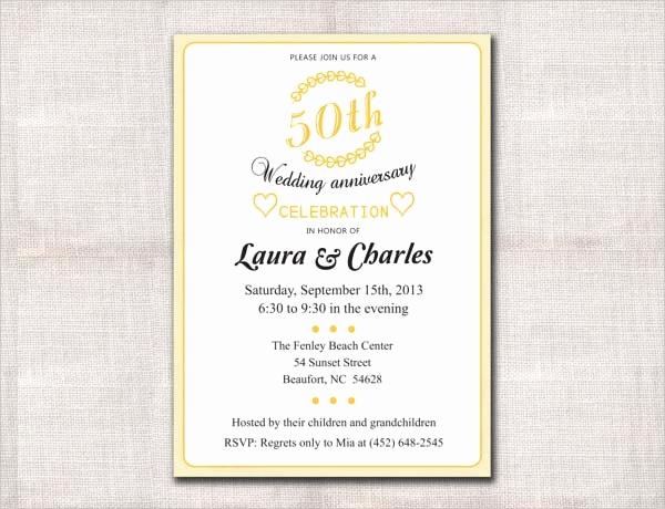 50th Wedding Anniversary Invitation Template Inspirational 10 Anniversary Invitation Templates Premium and Free