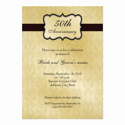 50th Wedding Anniversary Invitation Template Inspirational 50th Anniversary Invitations
