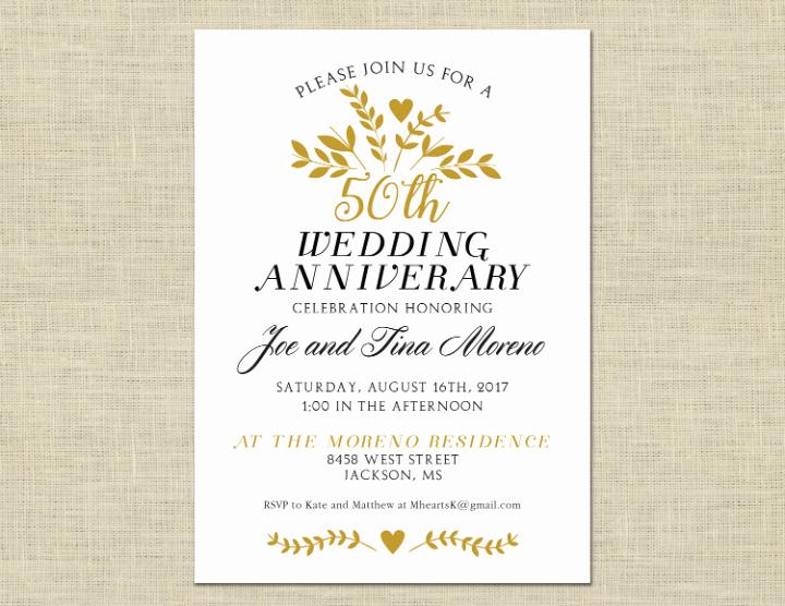 50th Wedding Anniversary Invitation Template New 32 50th Wedding Anniversary Invitation Designs