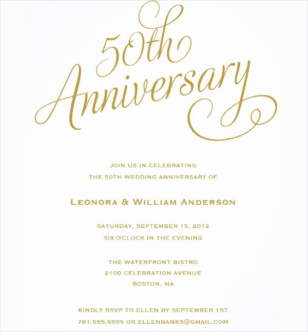50th Wedding Anniversary Invitation Template New 50th Wedding Anniversary Invitation Templates Templates