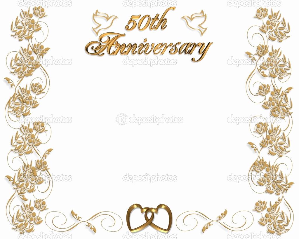 50th Wedding Anniversary Invitation Template New 50th Wedding Anniversary Invitations Templates Free