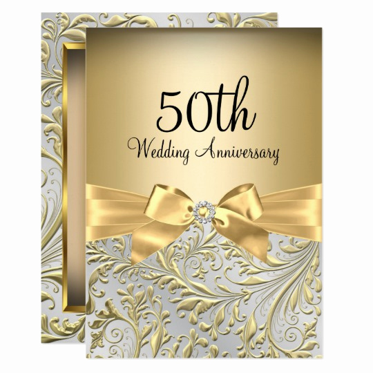 50th Wedding Anniversary Invitation Template Unique 50th Anniversary Vow Renewal Invitation