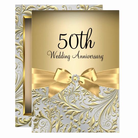 50th Wedding Anniversary Invitation Template Unique 50th Anniversary Vow Renewal Invitation