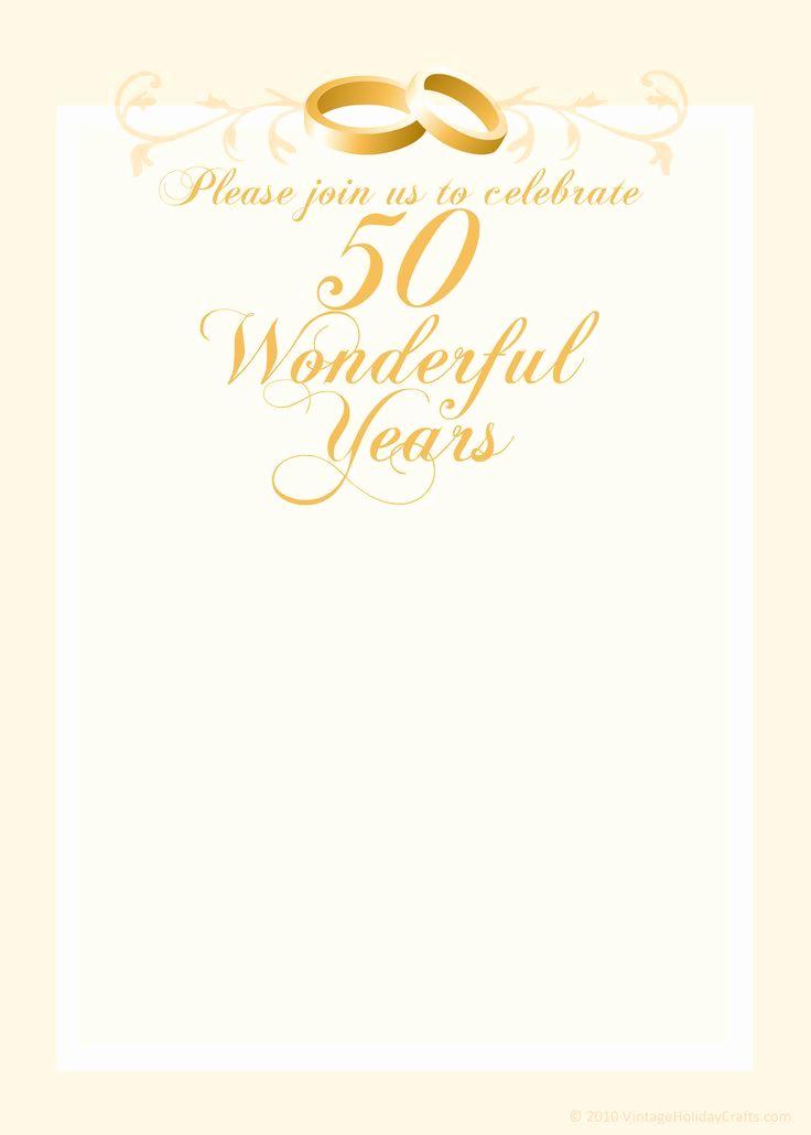 50th Wedding Anniversary Invitation Template Unique Free Anniversary Invitation Templates