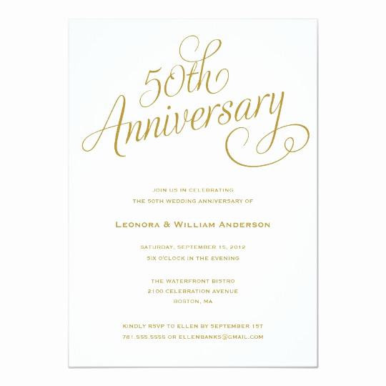 50th Wedding Anniversary Invitation Unique 50th Wedding Anniversary Invitations