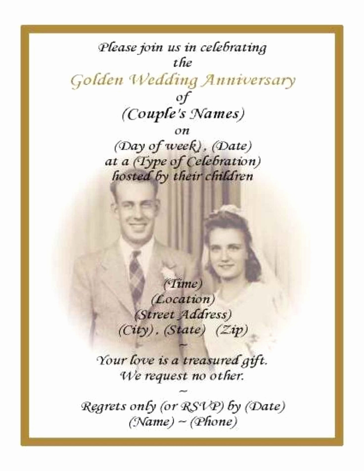 50th Wedding Anniversary Invitation Unique Best 25 50th Anniversary Invitations Ideas On Pinterest