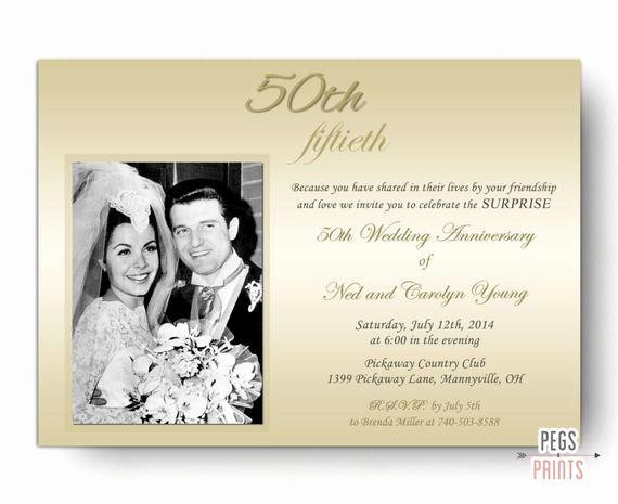 50th Wedding Anniversary Invitation Unique Surprise Wedding Anniversary Invitation Surprise 50th