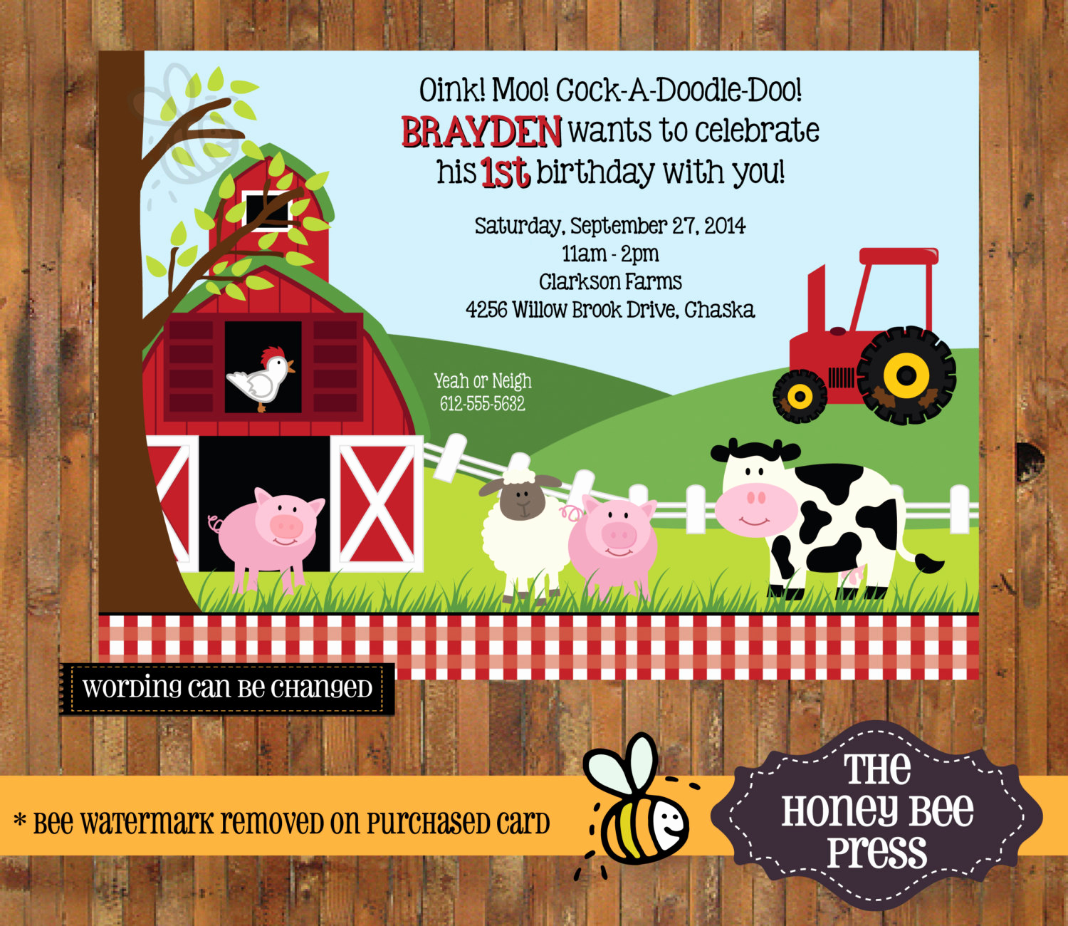 5th Birthday Invitation Message Beautiful Farm Animal Birthday Invitation Barnyard Birthday Invite