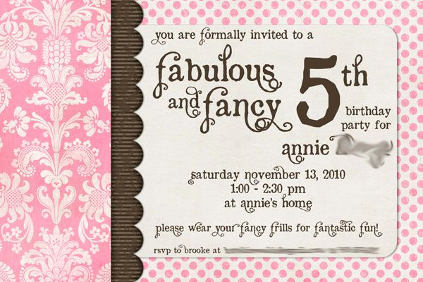 5th Birthday Invitation Message Inspirational A Fabulous & Fancy 5th Birthday Party Candy Buffet