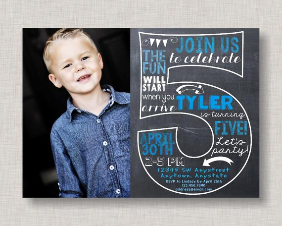 5th Birthday Invitation Message Luxury Fifth Birthday Invitation 5th Birthday Invitation Boy