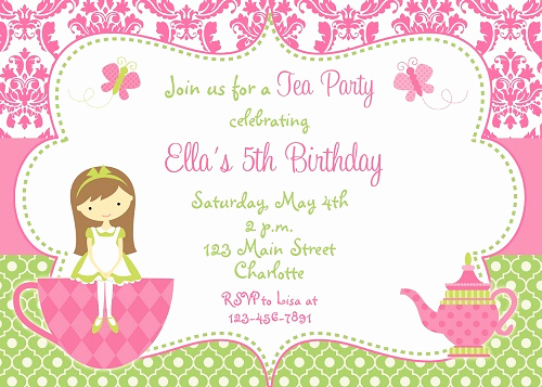 5th Birthday Invitation Message New 5th Birthday Invitation Wording Ideas – Bagvania Free