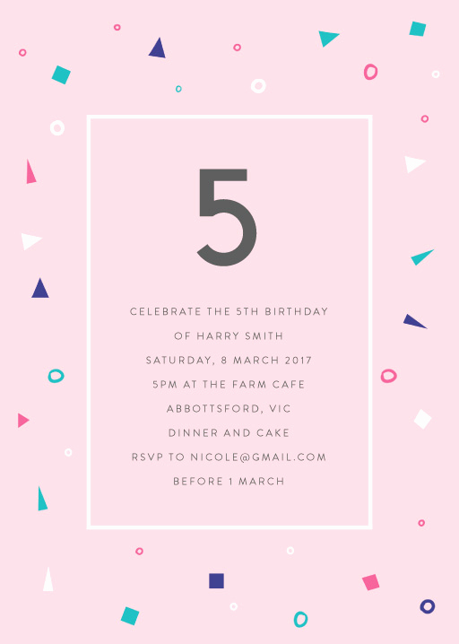 5th Birthday Invitation Wording Elegant 5th Birthday Invitations