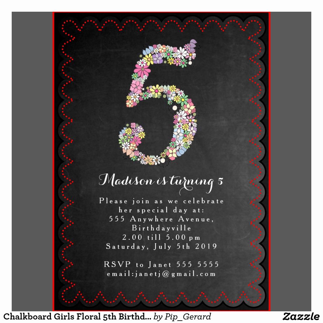 5th Birthday Invitation Wording Unique 5th Birthday Party Invitation Wording