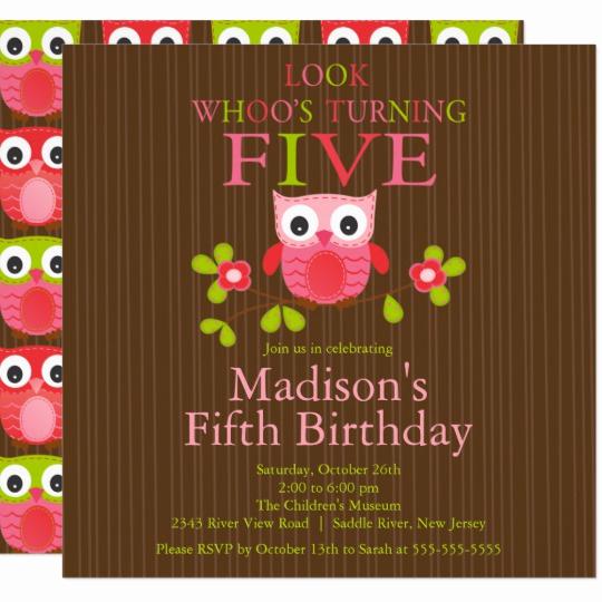 5th Birthday Party Invitation Elegant 5th Birthday Invitations & Announcements