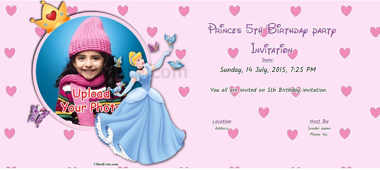 5th Birthday Party Invitation Fresh Free 5th Birthday Party Invitation Card & Line Invitations