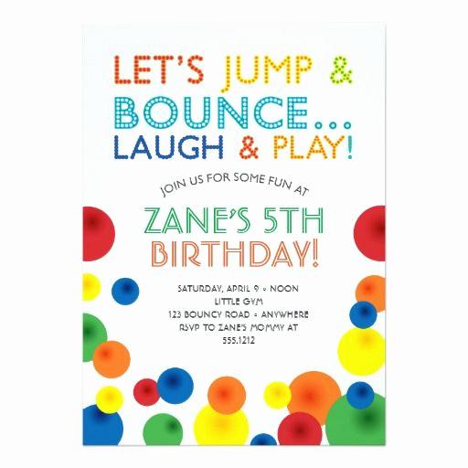 5th Birthday Party Invitation Luxury Bouncy Ball Birthday Invitation