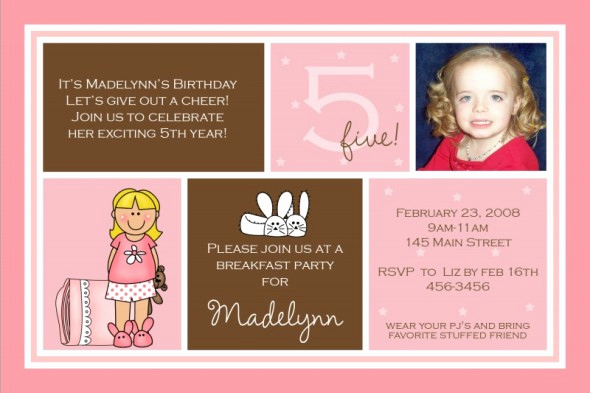 5th Birthday Party Invitation Wording Beautiful 5th Birthday Invitation Wording Ideas – Bagvania Free