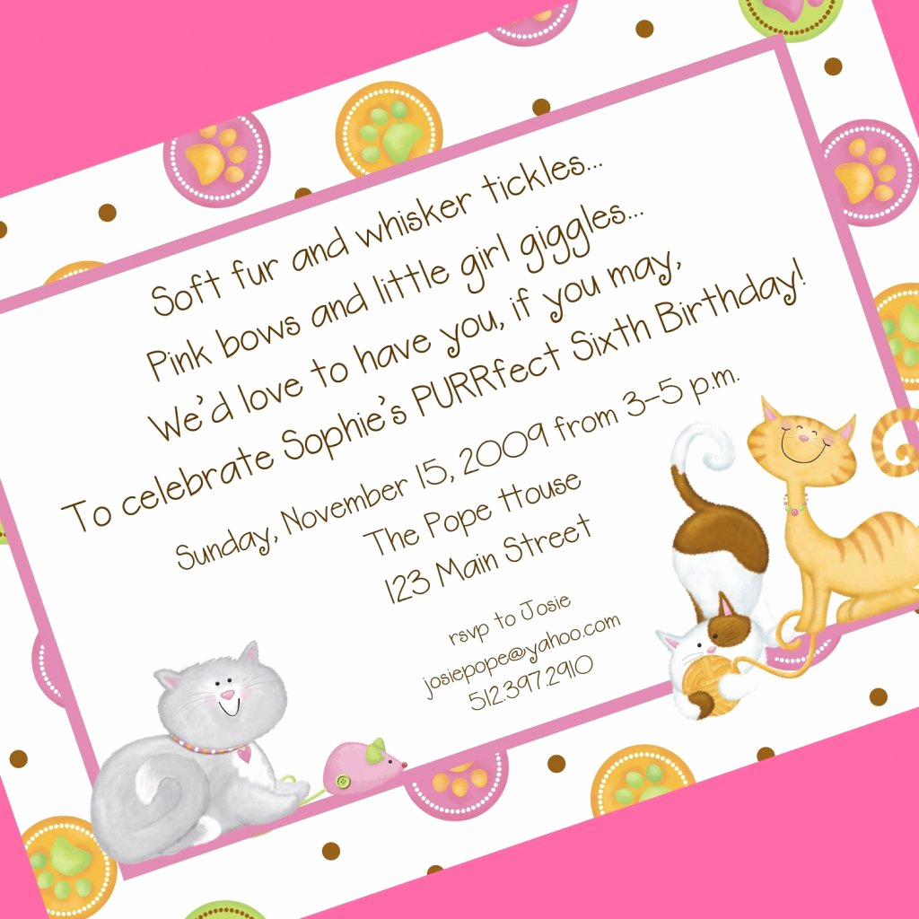 5th Birthday Party Invitation Wording Elegant Fifth Birthday Party Invitation Wording