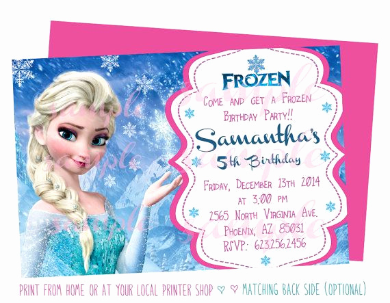 5th Birthday Party Invitation Wording Lovely 19 Best Frozen Invitations Images On Pinterest