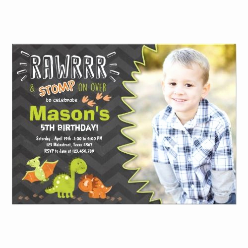 5th Birthday Party Invitation Wording Lovely 25 Best Ideas About Dinosaur Invitations On Pinterest