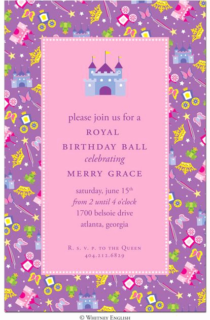 5th Birthday Party Invitation Wording New Princess Birthday Party Invitation Wording