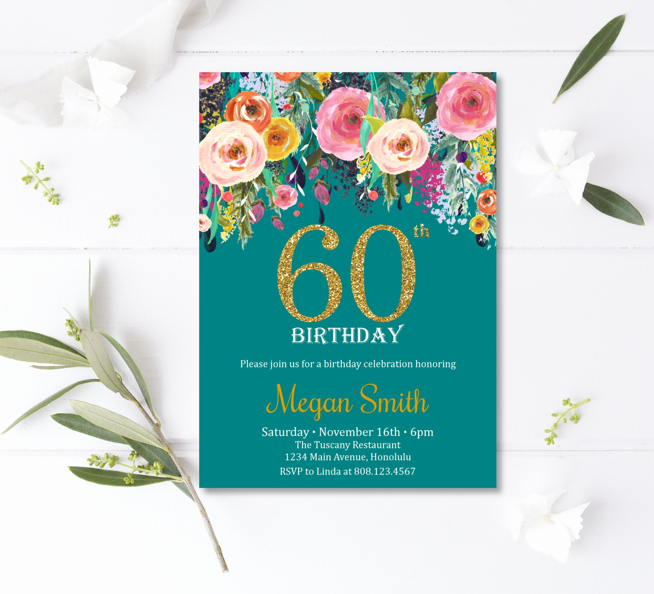 60th birthday invitations surprise 60th