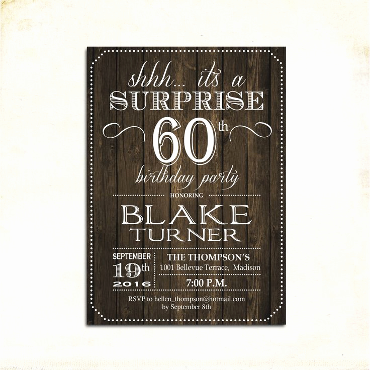 60 Th Birthday Invitation Inspirational 25 Best Ideas About Surprise Birthday Invitations On