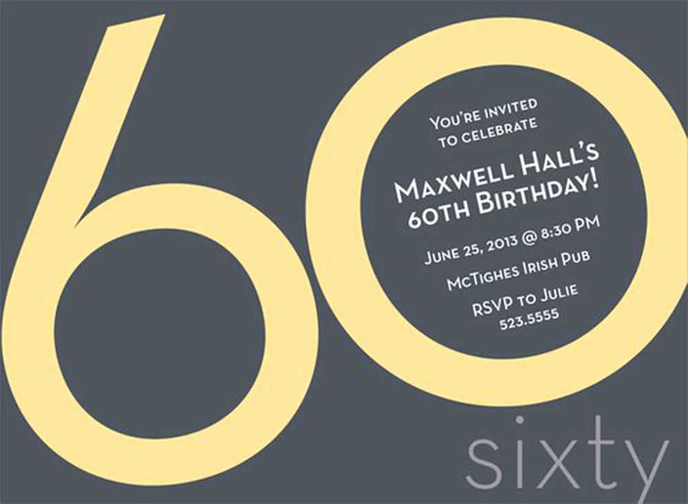 60 Th Birthday Invitation Luxury 20 Ideas 60th Birthday Party Invitations Card Templates