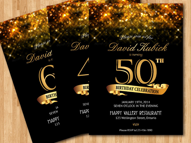 60 Th Birthday Invitation Luxury 30th 40th 50th 60th Birthday Invitation Gold Glitter
