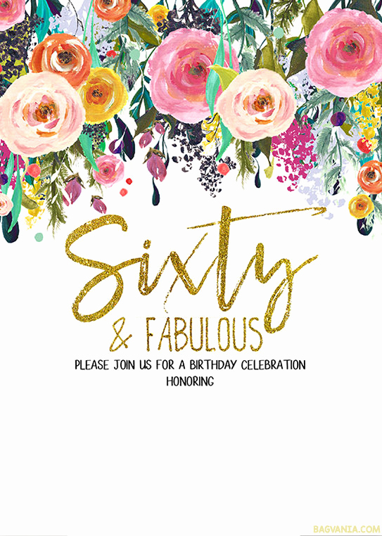 60 Th Birthday Invitation New Free Printable 60th Birthday Invitation Templates